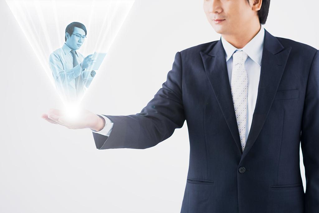 投影する立体映像技術